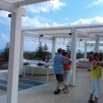 Der Tanzkurs im Freien mit traumhaftem Blick über die Anlage und den hauseigenen Strand
