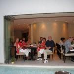 Abendessen, im Handumdrehen ist die Gruppe zusammen gewachsen